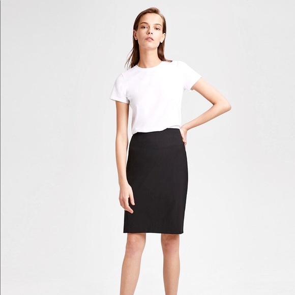 8b906597ef Theory Stretch Wool Pencil Skirt Size 0 Black